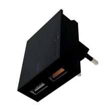 Nabíječka / EU adaptér SWISSTEN - 2x USB (QC 3.0) - 23W - černá