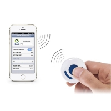 Anti-lost alarm / hledač předmětů bluetooth 4.0 pro Apple iPhone / iPad / iPod - bílý