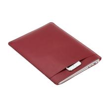 """Pouzdro / obal SOYAN pro Apple Macbook Air 13"""" / Pro 13"""" - s kapsou - umělá kůže - červené"""