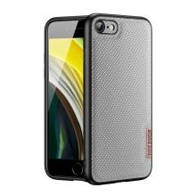 Kryt DUX DUCIS Fino pro Apple iPhone 7 / 8 / SE (2020) - gumový / látkový - šedý