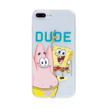 Kryt Sponge Bob pro Apple iPhone 7 Plus / 8 Plus - gumový - Sponge Bob s Patrikem