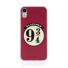 Kryt Harry Potter pro Apple iPhone Xr - gumový - nástupiště 9 a 3/4 - červený