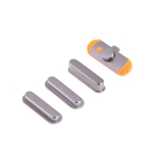 Sada postranních tlačítek / tlačítka pro Apple iPad mini 3 (Power + Volume + Mute) - šedá (Space Grey) - kvalita A+