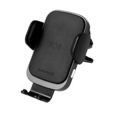 Držák do auta / bezdrátová nabíječka Qi SWISSTEN - elektronické uchycení - do ventilační mřížky - černý