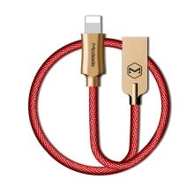 Synchronizační a nabíjecí kabel Lightning pro Apple zařízení MCDODO - tkanička - kovové koncovky - 1,2m - červený