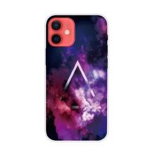 Kryt pro iPhone 12 / 12 Pro - gumový - galaktický trojúhelník
