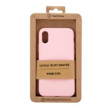 Kryt TACTICAL Velvet Smoothie pro Apple iPhone X / Xs - příjemný na dotek - silikonový - růžový
