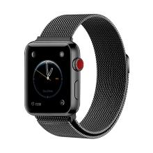 Řemínek pro Apple Watch 40mm Series 4 / 5 / 6 / SE / 38mm 1 / 2 / 3 - nerezový - černý