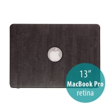 Obal / kryt pro Apple MacBook Pro 13 Retina (model A1425, A1502) - plastový tenký / potah umělá kůže - černý