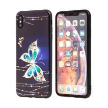 Kryt pro Apple iPhone Xs Max - gumový - motýli