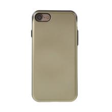 Kryt MERCURY Sky Slide pro Apple iPhone 7 / 8 / SE (2020) - prostor pro platební karty - plastový / gumový - černý / zlatý
