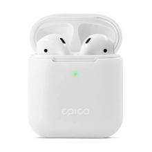 Pouzdro / obal pro Apple AirPods 2019 s bezdrátovým pouzdrem EPICO - silikonové - bílé