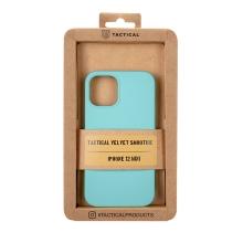 Kryt TACTICAL Velvet Smoothie pro Apple iPhone 12 mini - příjemný na dotek - silikonový - azurově modrý