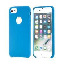 Kryt pro Apple iPhone 6 / 6S - gumový - příjemný na dotek - výřez pro logo - modrý