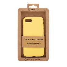 Kryt TACTICAL Velvet Smoothie pro Apple iPhone 7 / 8 / SE (2020) - příjemný na dotek - silikonový - banánově žlutý