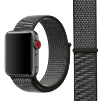 Řemínek pro Apple Watch 40mm Series 4 / 5 / 6 / SE / 38mm 1 / 2 / 3 - nylonový - šedý