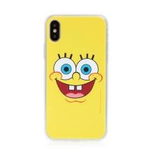 Kryt Sponge Bob pro Apple iPhone X / Xs - gumový - vysmátý Sponge Bob