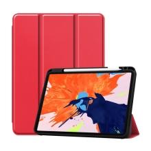 """Pouzdro pro Apple iPad Pro 12,9"""" (2018) / 12,9"""" (2020) - stojánek + prostor pro Apple Pencil - červené"""