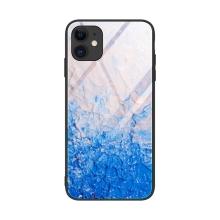 Kryt pro Apple iPhone 12 / 12 Pro - skleněný / gumový - ledové kry
