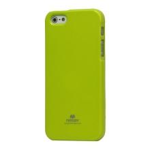 Gumový kryt Mercury pro Apple iPhone 5 / 5S / SE - jemně třpytivý - zelený