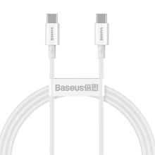 Synchronizační a nabíjecí kabel USB-C / USB-C BASEUS - 100W - 2m - bílý