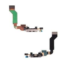 Flex kabel + mikrofon + napájecí a datový konektor pro Apple iPhone 4S - černý - kvalita A+