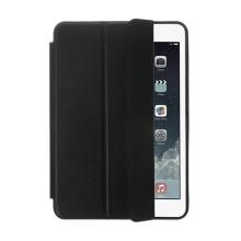 Pouzdro / kryt pro Apple iPad mini 1 / mini 2 - funkce chytrého uspání + stojánek - černé