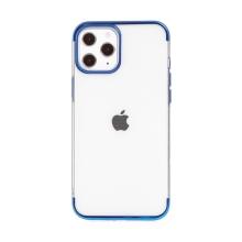 Kryt FORCELL Electro pro Apple iPhone 12 Pro Max - gumový - průhledný / modrý