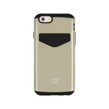 Kryt Mercury pro Apple iPhone 6 Plus / 6S Plus - plasto-gumový - prostor pro umístění platební karty - zlatý