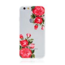 Kryt BABACO pro Apple iPhone 6 / 6S - gumový - průhledný - růže