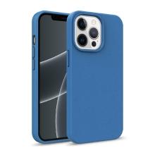 Kryt pro Apple iPhone 13 Pro Max - slaměné kousky - gumový - tmavě modrý