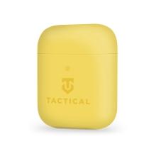 Pouzdro / obal TACTICAL pro Apple AirPods - příjemné na dotek - silikonové - žluté