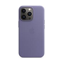 Originální kryt s MagSafe pro Apple iPhone 13 Pro - kožený - šeříkově nachový