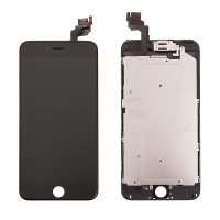 LCD panel + dotykové sklo (touch screen digitizér) pro Apple iPhone 6 Plus - osazený černý - kvalita A+
