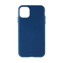 Kryt MERCURY Style Lux pro Apple iPhone 11 - látková textura - gumový - modrý