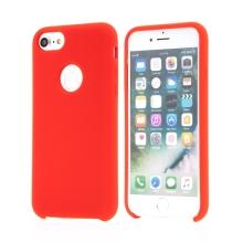 Kryt pro Apple iPhone 6 / 6S - gumový - příjemný na dotek - výřez pro logo - červený