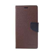 Pouzdro Mercury Fancy Diary pro Apple iPhone Xs Max - stojánek a prostor pro doklady - hnědé / černé