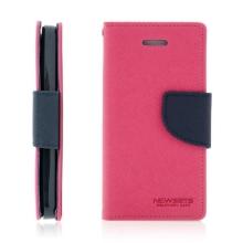 Ochranné pouzdro pro Apple iPhone 5 / 5S / SE Mercury se stojánkem a prostorem pro umístění platebních karet - růžové-modré