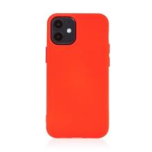 Kryt pro Apple iPhone 12 mini - příjemný na dotek - silikonový - červený