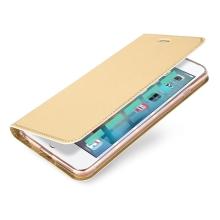 Pouzdro DUX DUCIS pro Apple iPhone 6 / 6S - stojánek + prostor pro platební kartu - zlaté