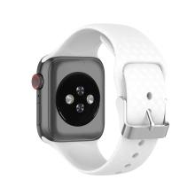Řemínek pro Apple Watch 41mm / 40mm / 38mm - 3D textura - silikonový - bílý