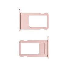 Rámeček / šuplík na Nano SIM pro Apple iPhone 6S - růžově zlatý (rose gold) - kvalita A+