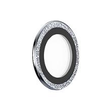 Tvrzené sklo (Tempered Glass) DEVIA pro Apple iPhone 13 Pro / Pro Max - na čočku fotoaparátu - s kamínky - 3 ks - bílé