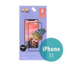 Tvrzené sklo (Tempered Glass) RURIHAI pro Apple iPhone Xr / 11 - černý rámeček - 2,5D - 0,26mm