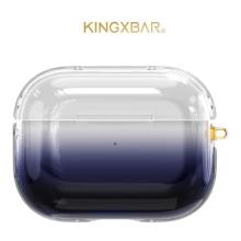 Pouzdro KINGXBAR pro Apple AirPods Pro - plastový - barevný přechod - černé