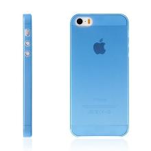 Kryt pro Apple iPhone 5 / 5S / SE - matný - plastový - tenký 0,5 mm - modrý