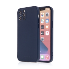 Kryt SWISSTEN Soft Joy pro Apple iPhone 12 Pro - příjemný na dotek - silikonový - tmavě modrý