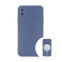 Kryt pro Apple iPhone X / Xs - MagSafe magnety - silikonový - levandulově modrý