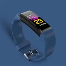 Sportovní fitness náramek - tlakoměr / krokoměr / měřič tepu - Bluetooth - voděodolný - modrý