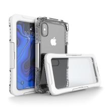 Pouzdro pro Apple iPhone Xs Max - voděodolné - plast / silikon - průhledné / bílé